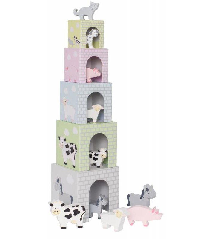 Gyvūnų piramidės bokštas