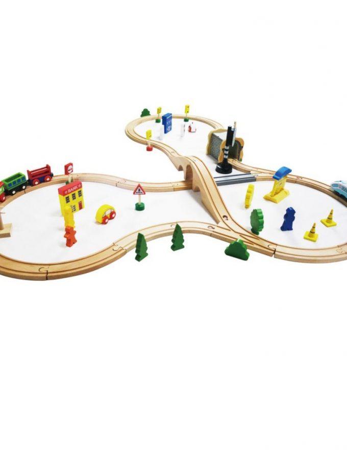 Medinė elektrinė geležinkelio trasa 69 vnt.