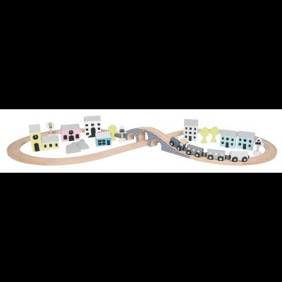 Medinė traukinio trasa