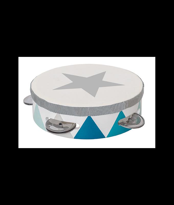 Medinis mėlynas tamburinas