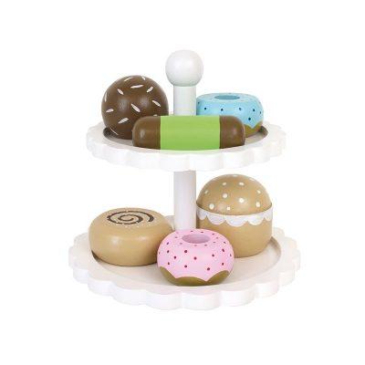 Medinių saldumynų lėkštė
