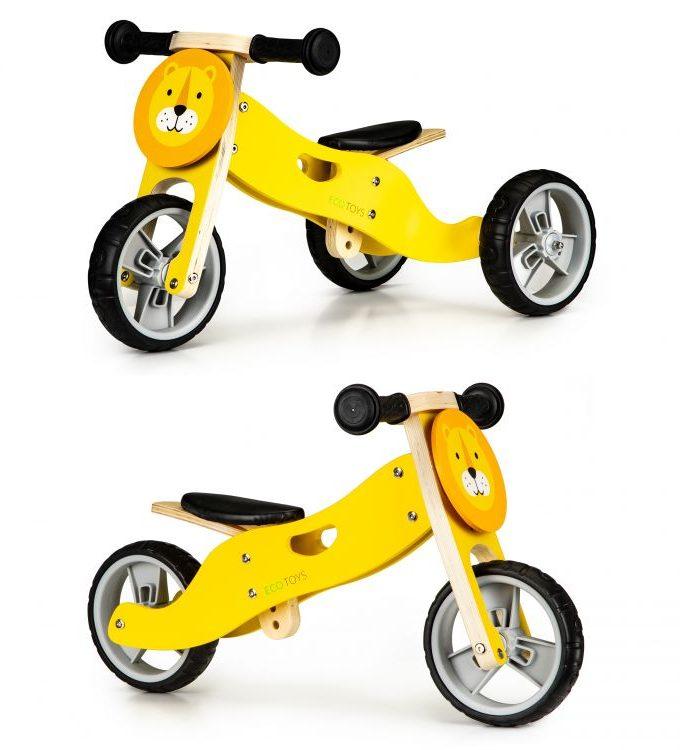 medinis balansinis dviratis