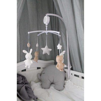 Muzikinė karuselė su meškučiu ir triušiuku