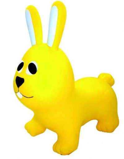 pripučiamas šokliukas geltonas zuikis