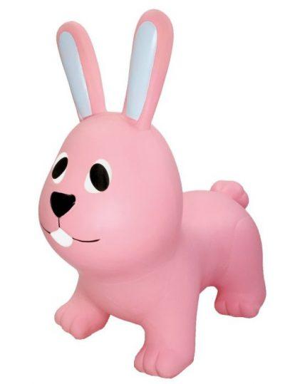 šokinėjimo pripučiamas žaislas rožinis zuikis