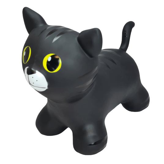šokliukas juoda pripučiama katė