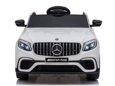 Baltas vaikiškas ektromobilis Mercedes Benz GLC63 S