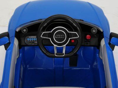 Elektromobilis Audi TT RS mėlynos spalvos