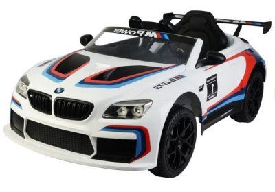 Vaikiškas elektromobilis BMW M6 baltas mpower