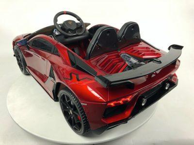 Vaikiškas elektromobilis Lamborghini Aventador raudonas