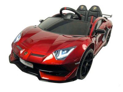 Elektromobilis Lamborghini Aventador raudonas