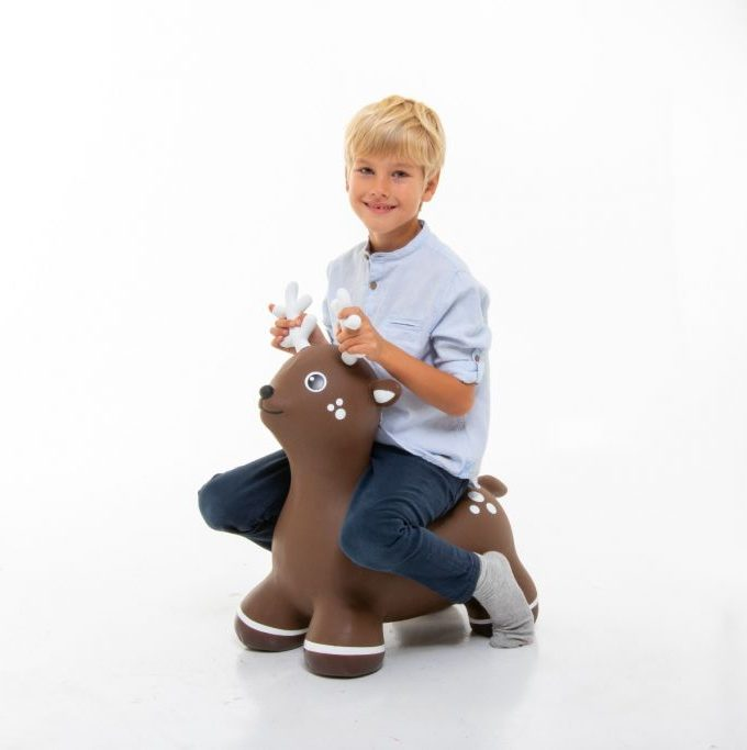 šokinėjimo pripučiamas žaislas briedis