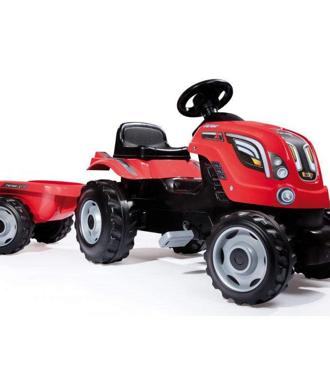 Smoby minamas raudonas traktorius