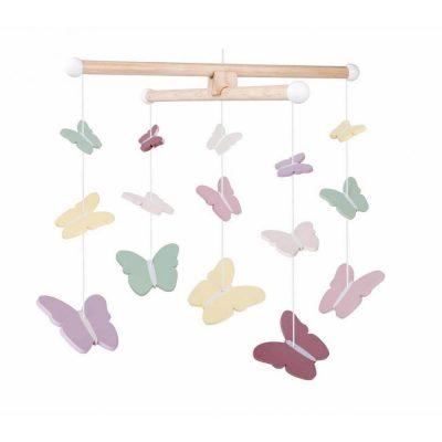 medine vaikiska karusele su drugeliais
