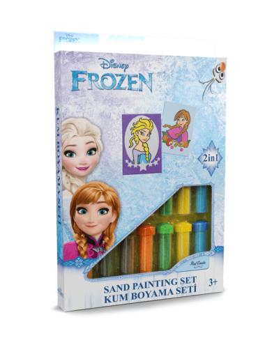 Spalvoto smėlio rinkinys Frozen ir Ana