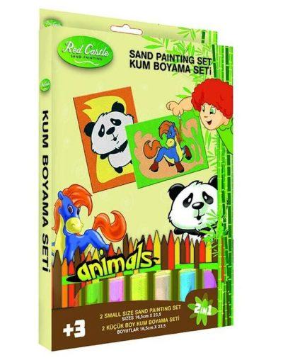 Spalvoto smėlio rinkinys Panda ir Arkliukas
